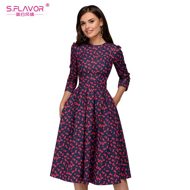 Elegant A-line Vintage Dress