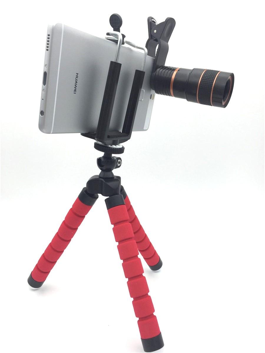 Univesal New 5in1 8X Zoom Phone Camera Lens Telescope with Flexible Tripod 3in1 lens Fisheye Lens Wide Lens Macro for smartphone 22