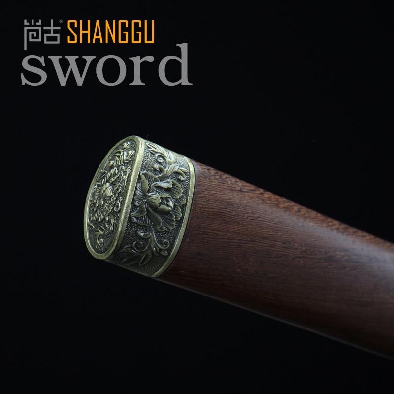 Samuray Qılıncı ilə yüklənmiş 20 düymlük Peony Naxış Tunc, - Ev dekoru - Fotoqrafiya 3