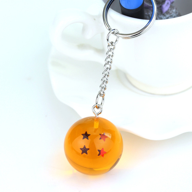 Anime Dragon Ball Z 7 Stars Balls 2.7cm PVC Figures Toys Keychain Pendant star Dragon Ball Z keyring Cartoon Fans Collection