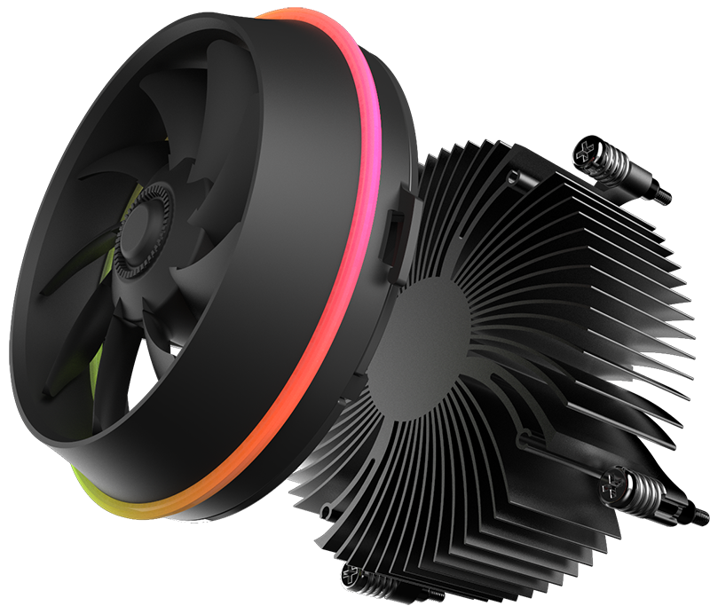 Aigo darkflash schatten TOP-FLUSS CPU Kühler AURA SYNC TDP 280 W PWM 4pin Doppel Ring LED RGB Fan kühler Kühler für intel LGA 115x