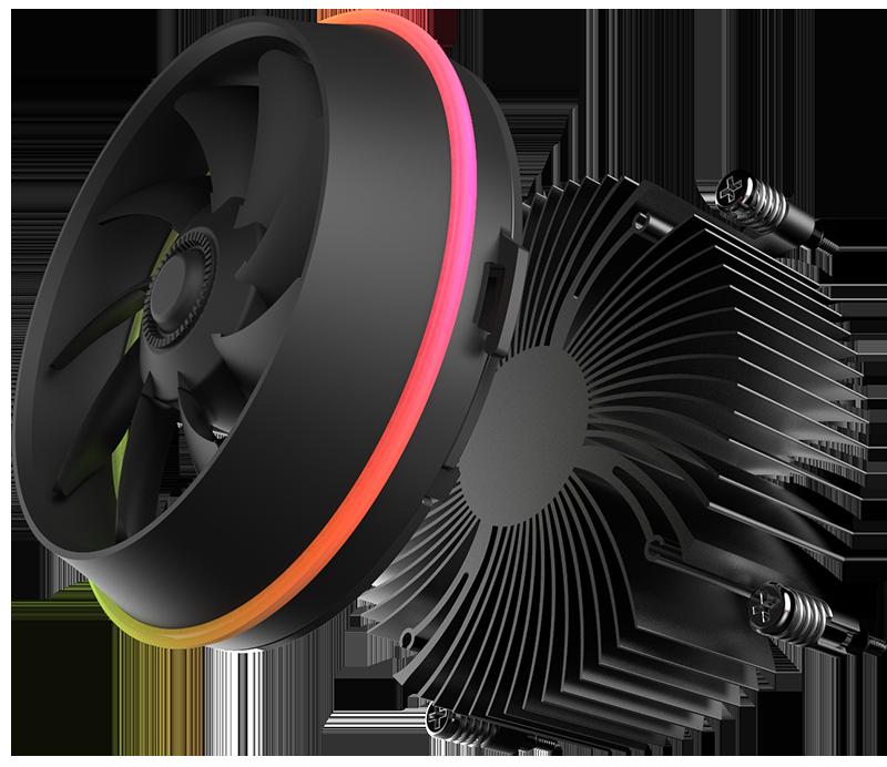 Darkflash ombra TOP-FLUSSO CPU Cooler 3P-5vAURA di SINCRONIZZAZIONE TDP 280 W PWM 4pin Doppio Anello LED RGB Ventola Del Radiatore di raffreddamento per intel LGA 115x