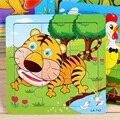 24 estilos animales de madera 3d juguete educativo del bebé rompecabezas juegos imagen Jigsaw Puzzles juguetes para niños regalos juguetes educativos