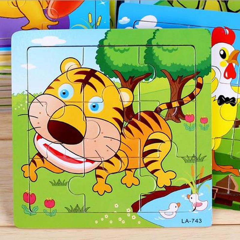 24 stilovi Životinje Drvene 3d Puzzle Dječji Obrazovne igračke - Igre i zagonetke - Foto 1