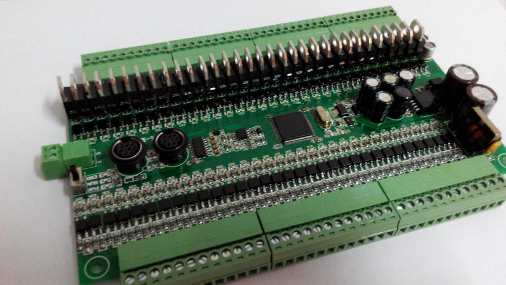 US $144 0  FX1N 64MR 64MT Board for Mitsubishi PLC 32/32 I/O RS485 modbus  communication 4 Axis Pulse AB encoder-in Computer Cables & Connectors from