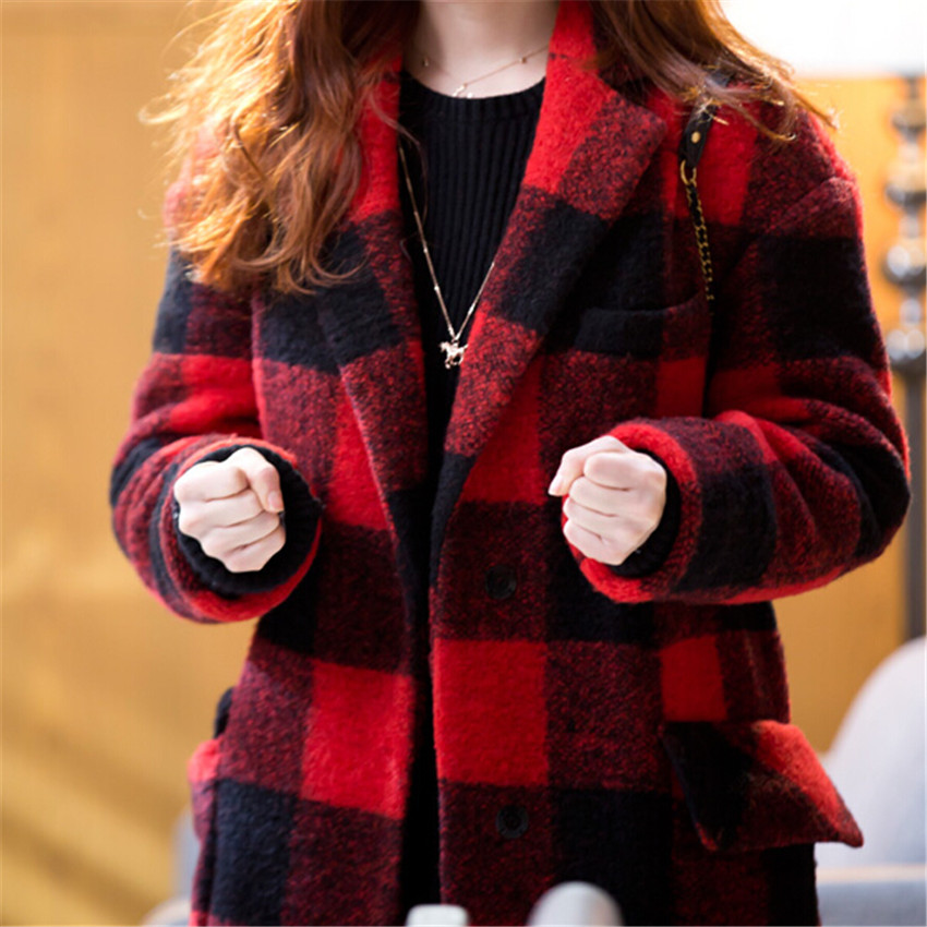 Winter autumn parkas women wool coat 2015 new jacket fashion loose ...