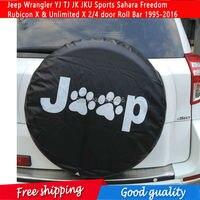 NEW Spare Tire Cover For Jeep Wrangler YJ TJ JK JKU Sports Sahara Freedom Rubicon X & Unlimited X 2/4 door Roll Bar 1995 2016