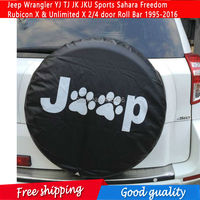 NEW Spare Tire Cover For Jeep Wrangler YJ TJ JK JKU Sports Sahara Freedom Rubicon X & Unlimited X 2/4 door Roll Bar 1995 2016