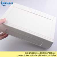 Wall mount plastic housing for electronics abs plastic project case diy junction box plastic instrument enclosure 275*204*64mm Wire Junction Boxes     -