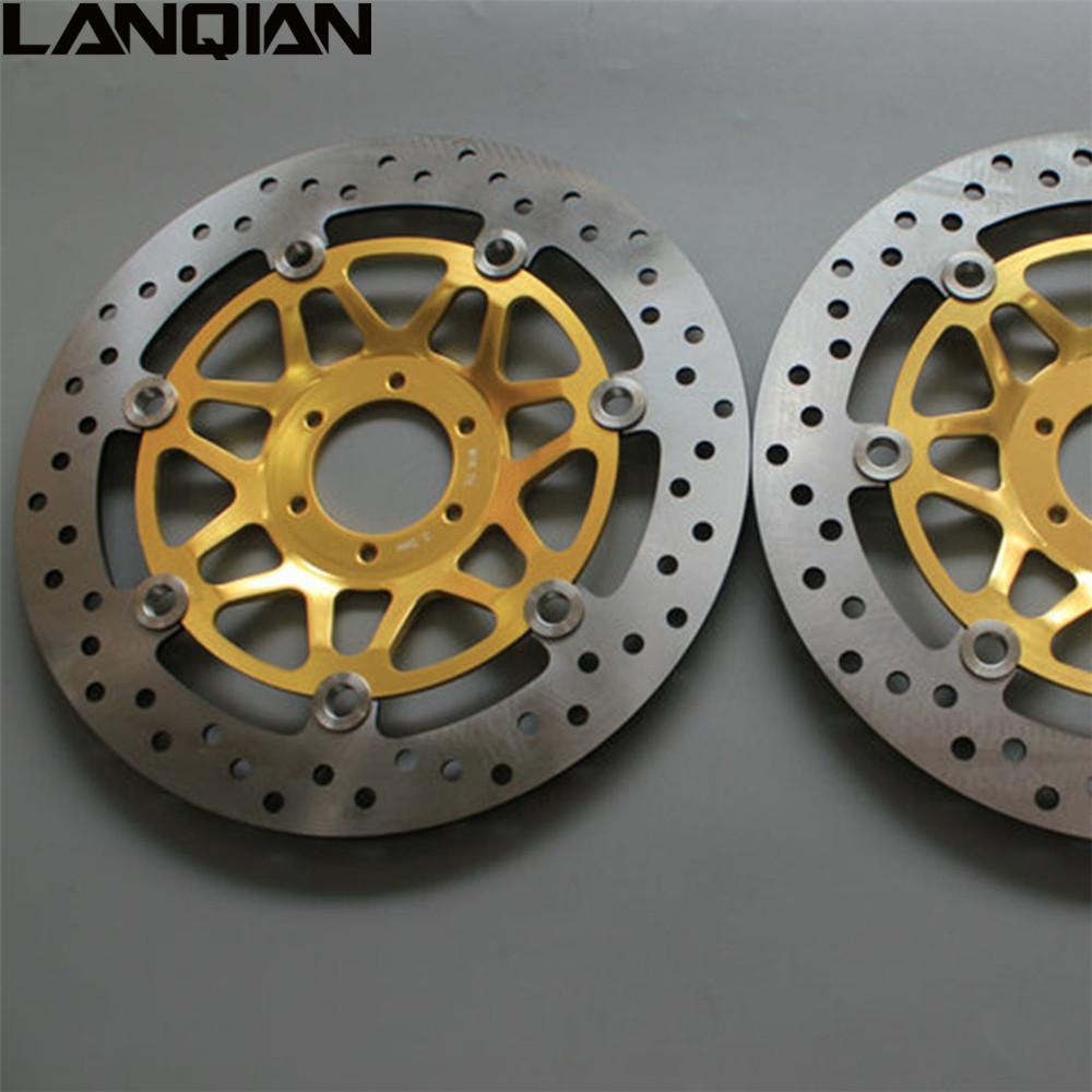 For Honda CB400 1999 - 2009 2PCS Motorcycle Front Floating Brake Disc Rotor CB 400 2000 2001 2002 2003 2004 2005 2006 2007 2008 dwcx 1j5853665b 1j5853666c front lower grille bumper vent for volkswagen vw jetta bora mk4 1999 2000 2001 2002 2003 2004