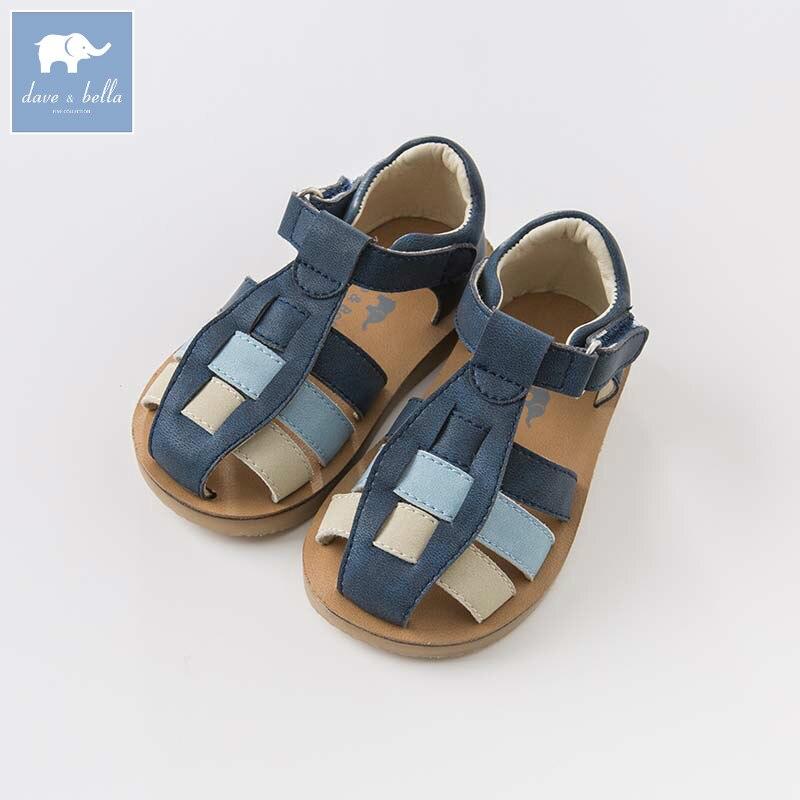 DB6751 Dave Bella chaussures d'été   Sandales pour bébé garçon en cuir véritable