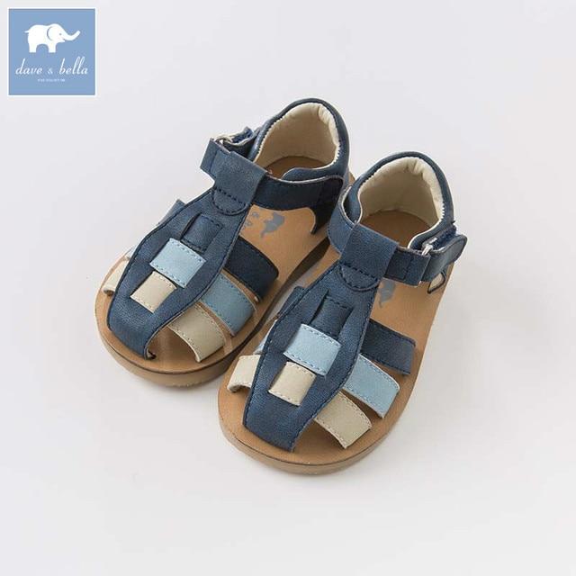 77083eb2f9b DB6751 Dave Bella summer baby boy sandal genuine leather children shoes