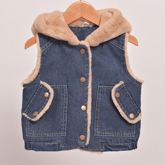 9ff8f0d3bb41 2018 New Children Waistcoats For Boys Girls Vest Winter Thick Warm ...