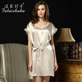 100% mulberry silk  big yards elegant lady nightgown casual tracksuit