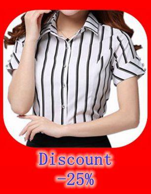 8dd87a491f59086 Блузки 2018 новые женские рубашки Большие размеры S-4XL Кружевной декор  женские полосатые рубашки Формальные Тонкий Топ Camisa Feminina шифоновая  блузка