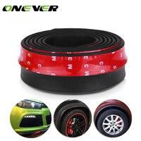2 5m Car Protector Front Bumper Lip Splitter Car Sticker Body Kit Spoiler Bumpers Valance Chin
