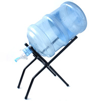 Outdoor Camping Bottled Water Bracket Water Pressure Device Upside Down Drinking Fountain Pure Bucket Portable Folding Simple