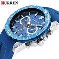 2015 marca de luxo CURREN estilo militar do exército homens relógio do esporte relógio de pulso relógio de quartzo Masculino