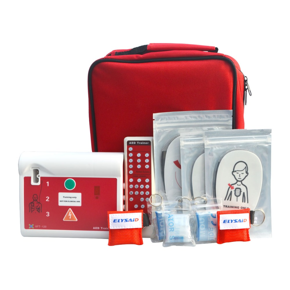 XFT-120C AED Trainer Device For First Aid CPR Training Emergency Rescue Teaching Tools In Spanish With Electrode Pads