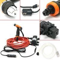 Portable High Pressure 12V 100W 160PSI Car Electric Washer Washing Machine Cigarette Lighter Water Pump Kit