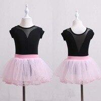 Short Sleeves sweetheart neckBallet Dress Girls Bodysuit Clothes Children Ballerina Dress Kids Gymnastics Leotard Dance Costumes