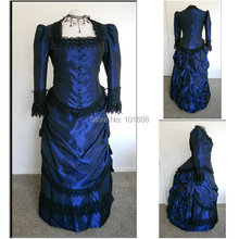 Victorian Corset Gothic/Civil War Southern Belle Ball Gown Dress Halloween dresses  US 4-16 V-405