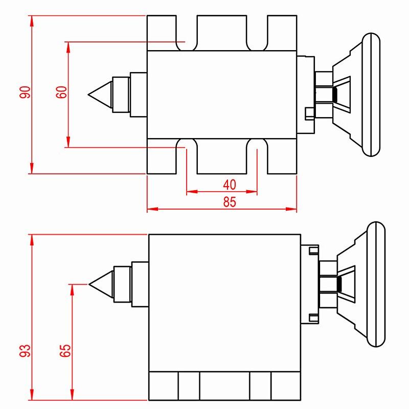 Купить с кэшбэком 4th Axis dividing head 6:1 Rotation Axis cnc rotary axis chuck 80mm activity tailstock