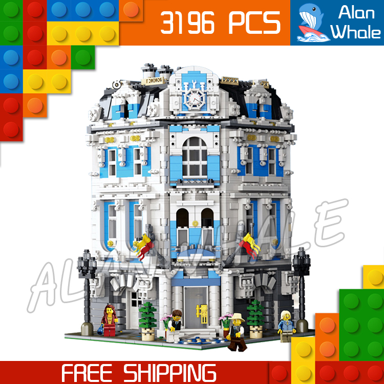 3196pcs 15018 Creator Expert  Sunshine Hotel Modular Building series Kit Model Blocks Toys Office structure Compatible With lego laete 15018