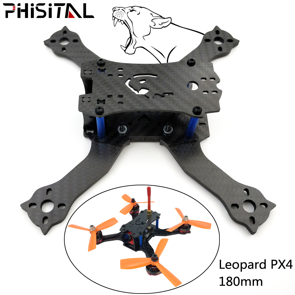 PHISITAL Beetle PX4 180mm Drone Quadcopter Carbon Fiber Frame for FPV RC Racing/4mm arm plate/4 inch propeller zmr 200 through four axis quadcopter frame 200 all metal head one carbon fiber plate 4mm lightweight racing for uav fpv flysky