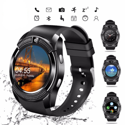 V8 Smartwatch Bluetooth Pedometer SIM TF Card Watch Camera 2G Color Display Wrist Smart Watch Waterproof Device For Android