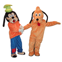 Dog Mascot Costumes pluto And goof Mascot Fancy Dress Performance movie costume mascot cosplay