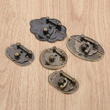 1Pc Box Latch Clasp Suitcase Round Toggle Buckles Wooden Lock Bronze Tone Dia.65mm 63mm 47mm 40mm