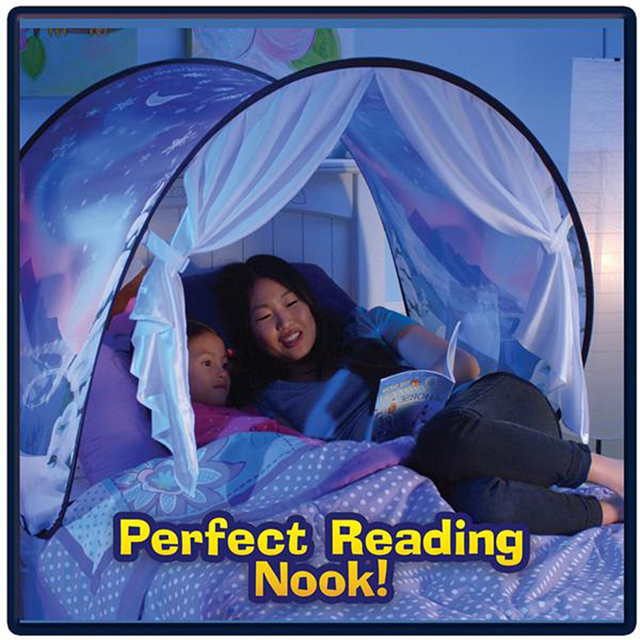 Smartlife Kids Dream Tents Baby Pop Up Bed Tent Cartoon Snowy Foldable Playhouse Comforting At Night Sleeping Outdoor Camp Tipi