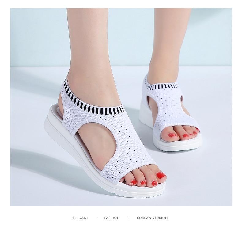 HTB1ogjAu41YBuNjy1zcq6zNcXXam PINSEN Women Sandals 2019 New Female Shoes Woman Summer Wedge Comfortable Sandals Ladies Slip-on Flat Sandals Women Sandalias