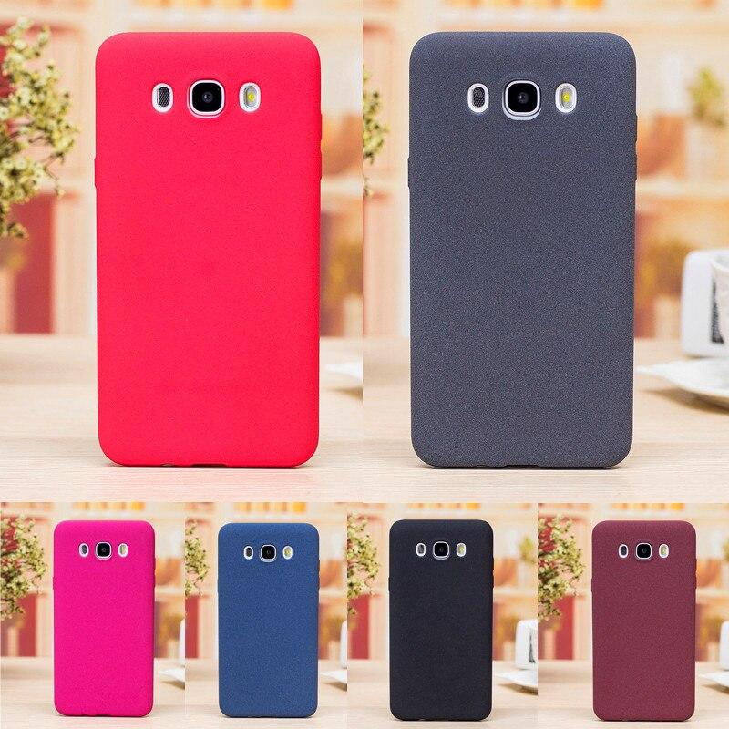 Para Samsung Caso J5 2016 J510F Plush Macio Matte TPU Pele de Silicone Tampa Traseira Caixa Do Telefone para Samsung Galaxy J5 2016 J510 J510H