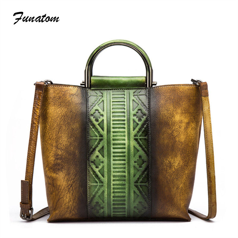 2018 Genuine Leather Bags Women Vintage Cow Leather Handbag Ladies Solid Casual Small Crossbody Hand rubbing Shoulder Bag genuine leather women fashion handbag vintage pattern small size ladies handbag chain shoulder bag crossbody round handle