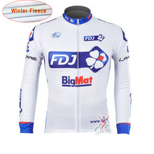 2016 New Arrivals FDJ Men's Cycling Thermal Fleece jersey cheap-clothes-china Outdoor MTB Racing pro team Breathable Sport Lycra