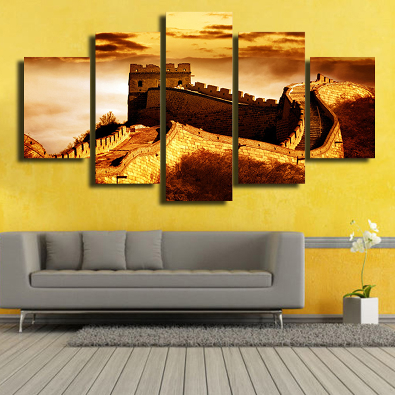 The Great Wall Landscape Canvas Art Home Decor For Living Room Paintings on for Decorations