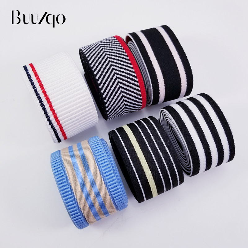 buulqo 3 lot meter Fashion jacquard elastic band double sided rubber shoulder bottom straps for DIY Garment Accessories in Elastic Bands from Home Garden