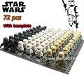 72 unids/lote con placa base Rogue Uno Imperial Stormtrooper de Star wars Clone Trooper de bloques de Construcción de juguetes para los niños