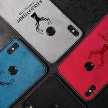 Fabric Back Cover Capa For Xiaomi Mi 9 8 Lite Mix 3 2S Max A1 A2  Case Classic Cloth Soft Silicone Frame