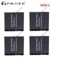 PALO Hot Sale 4Pcs Original Xiao mi YI 4K Battery AZ16 1 For Xiaoyi Action Camera 2 1400mAh 3.85V Rechargeable Battery