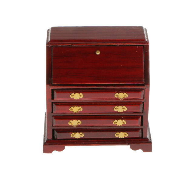 nieuwe 1 12 poppenhuis miniatuur meubels houten woonkamer kast