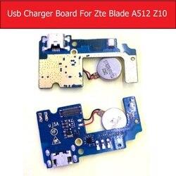 Mikrofon i płytka ładująca Usb przewód elastyczny płaski do ZTE Blade A512 Z10 gniazdo ładowarki USB złącze portu płyta części do naprawy kabli elastycznych