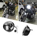 5.75 Inch  Motorcycle Black Projector Daymaker LED Angel Demon Eyes Light Bulb Headlight for Harley IP67