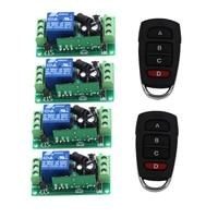 DC 9V 12V 24V Wireless Remote Control RF Remote Control Switch Systerm 1CH 10A Relay Receiver 4CH Transmitter 315/433Mhz
