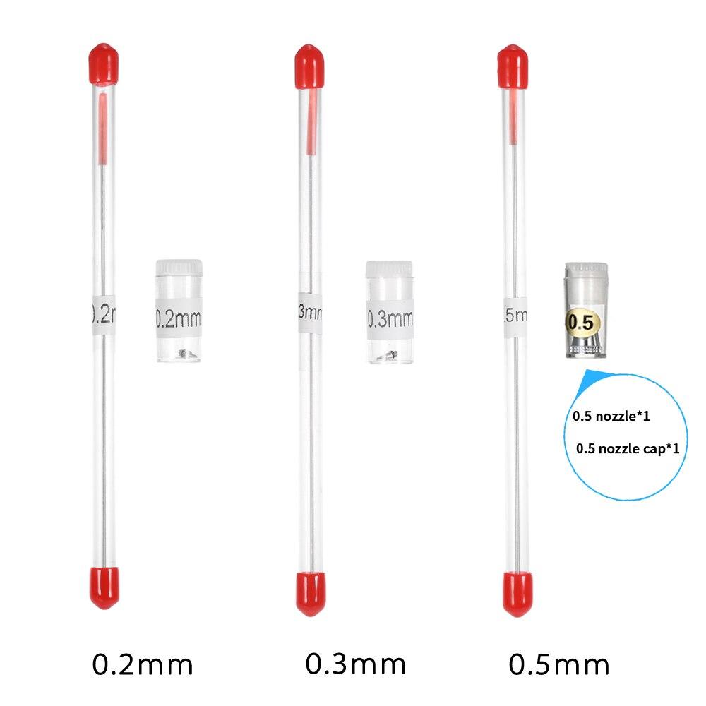0,2mm/0,3mm/0,5mm Airbrush Düse Nadel Kappe Ersatz Spray Gun Teile Farbe Spritzen Werkzeug Körper pinselführung machen Zubehör