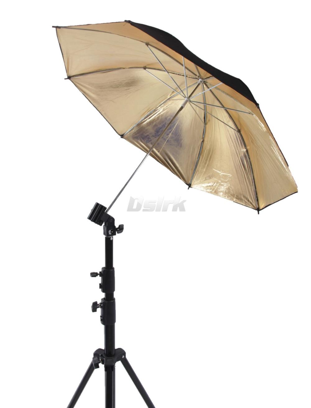 ASHANKS 33in 83cm Reflector Umbrella Photography Accessaries Reflective Black Gold Golden Umbrella for Photo Studio Flash Light