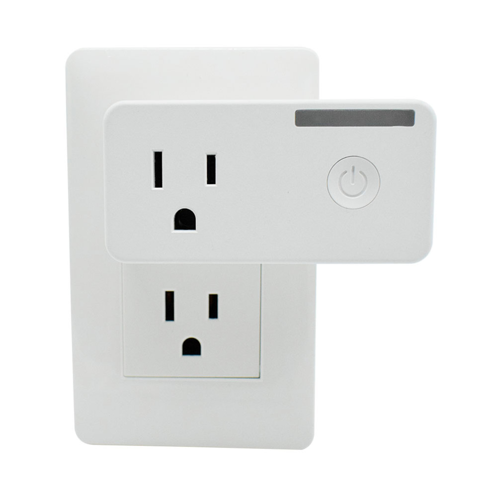 Smart US Plug Manage Energy Costs From Your Phone Mini Smart Outlet Compatible for Alexa and Google Home Control Device by Phone