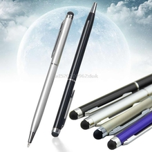 Универсальный 2 в 1 емкостный Сенсорный экран Стилусы Шариковая ручка для мобильного телефона # h029 #